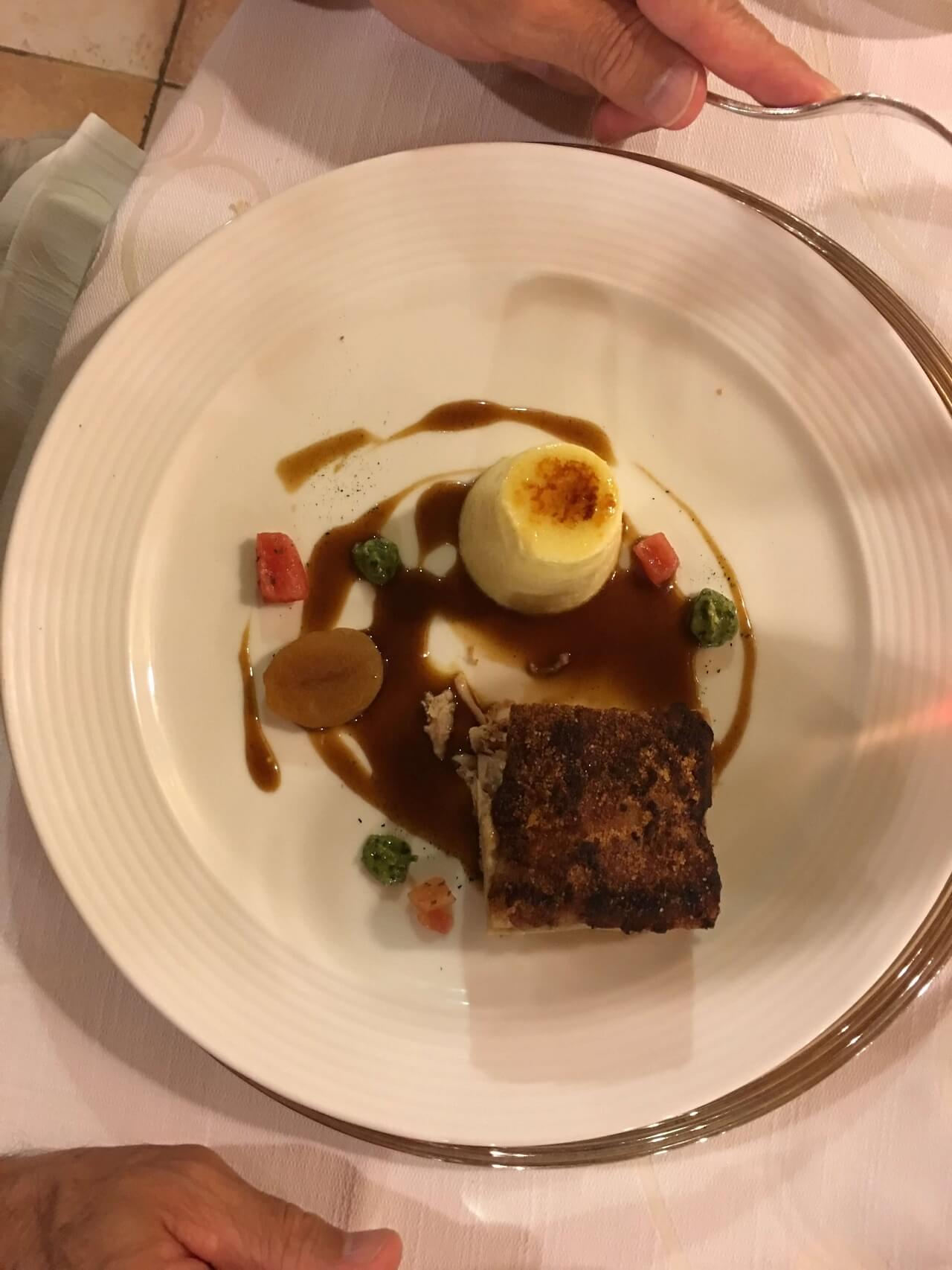 Beef with polenta, a Taormina specialty