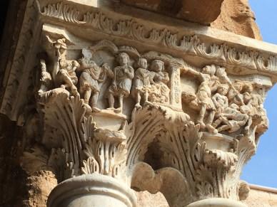Monreale stonework on the cloister.