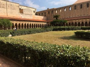 The cloister in Monreale.