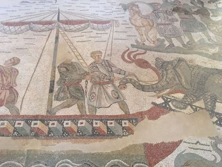 Spectacular mosaics in Villa Romana del Casale.