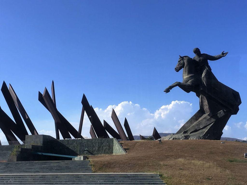 Plaza Revolucion Maceo monument in Santiago