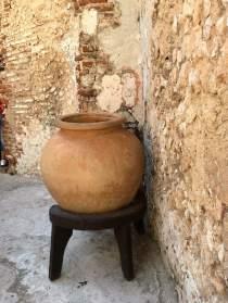 Water jar or tinaja in El Morro