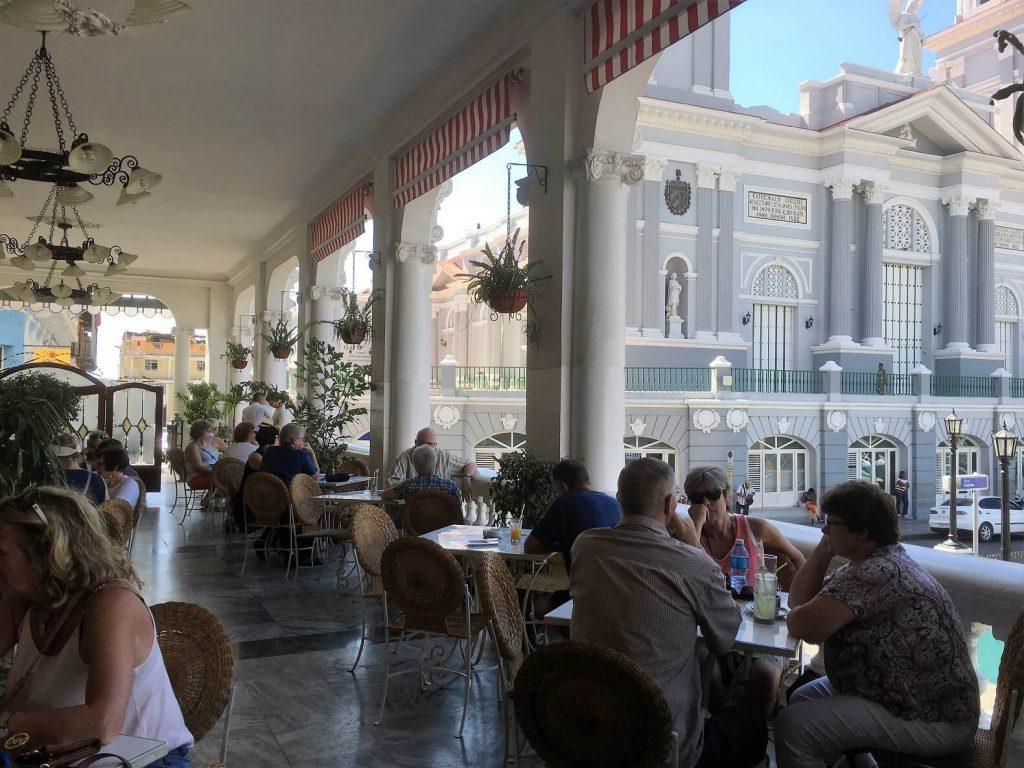 Balcony of Hotel Casa Granda. Santiago de Cuba activities.