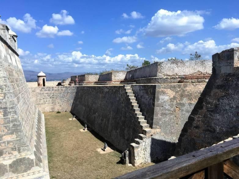 Moat in El Morro Fort in Santiago.