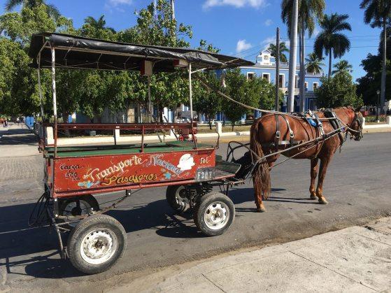 Cuban Transportation. Passenger horse cart in Cienfuegos, part of your perfect Cuban itinerary.