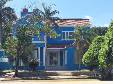 Pretty Blue mansion in Hidden Havana.