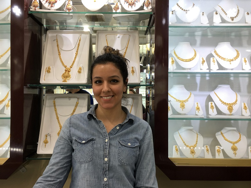 Sabrina in Omar Jewelers near the #7 train