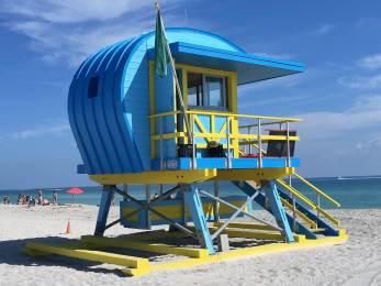Lifeguard perch on South Beach