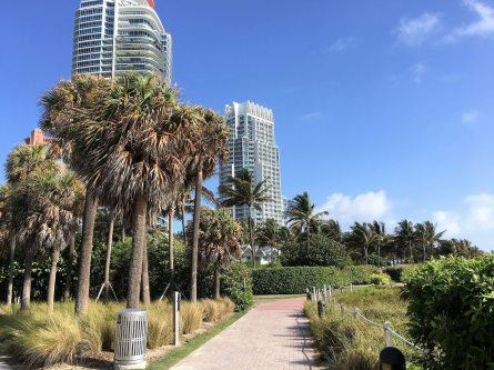 South Beach jogging path