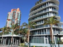 Luxury condos on South Beach
