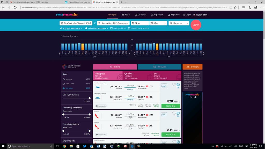 Momondo for cheap flights