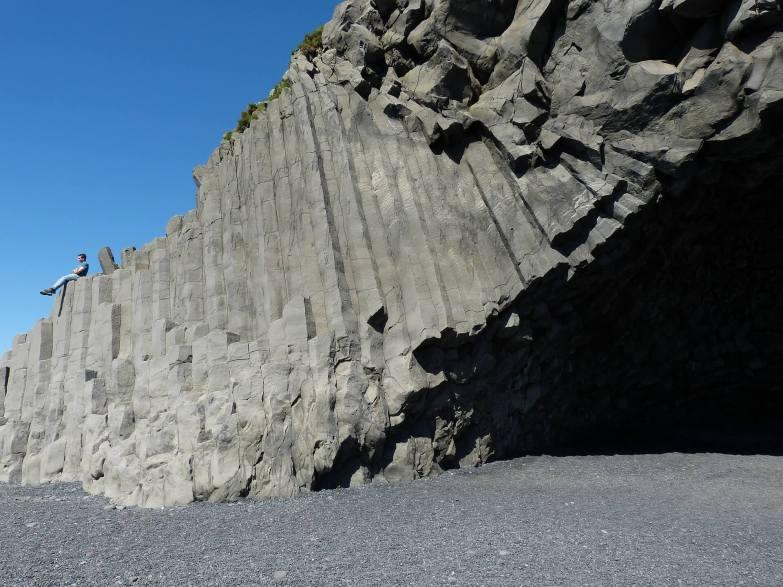 Basalt stacks in Iceland beach