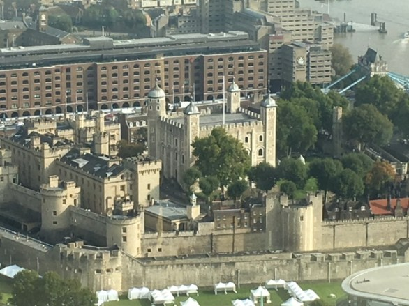The Tower of London from the Eye in South Bank