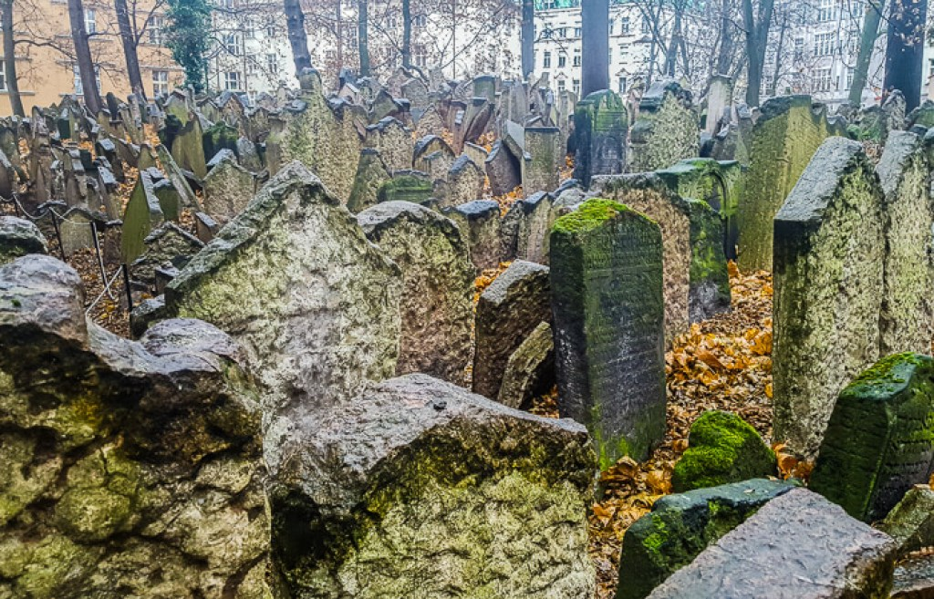Jewish cemetery in Prague is one of the famous European cemeteries