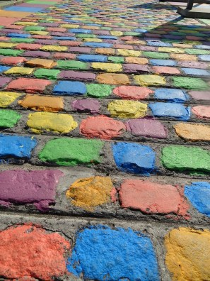 cobbled streets in Buenos Aires
