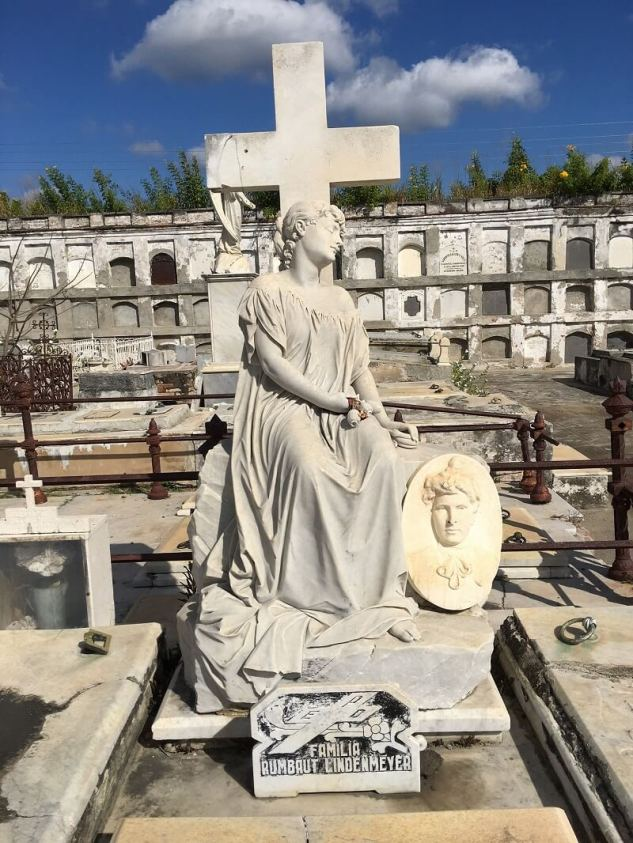 Beautiful monument in historical cemetery, part of yuor p