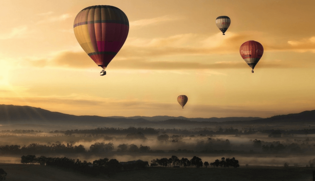Yarra Valley balloon ride in one of the great wine regions of Australia