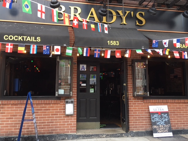 Brady's to watch the World Cup