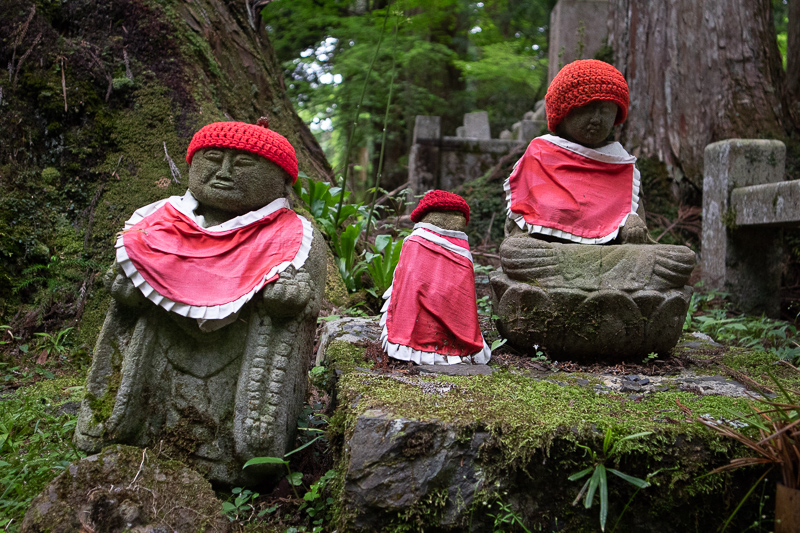 Okunoin cemetery statues