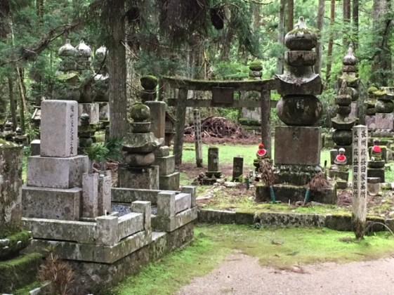 Okunoin cemetery in Koya-san, Japan