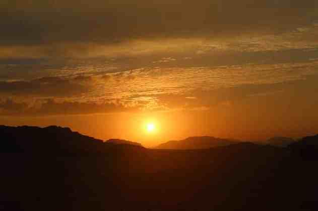 Sunset near Wadi Rum camp