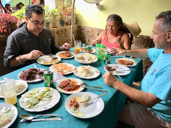 Farm to table meal in Vinales on Cuba cultural tour