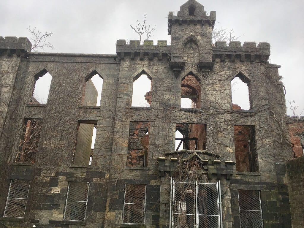 Ruins of small pox hospital in Roosevelt Island, one of the most underrated attractions in NYC