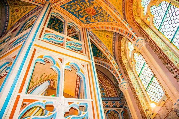 Matthias Church interior in Budapest.