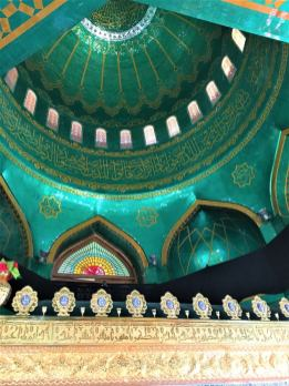 Mosque ceiling seen on day trips from Baku
