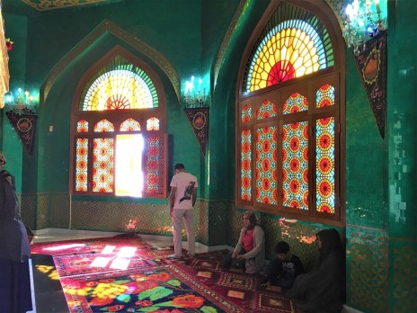 stained glass windows in mosque