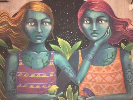 Tbilisi street art, two girls