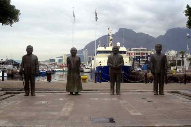 Nobel Square: founders of democracy in South Africa