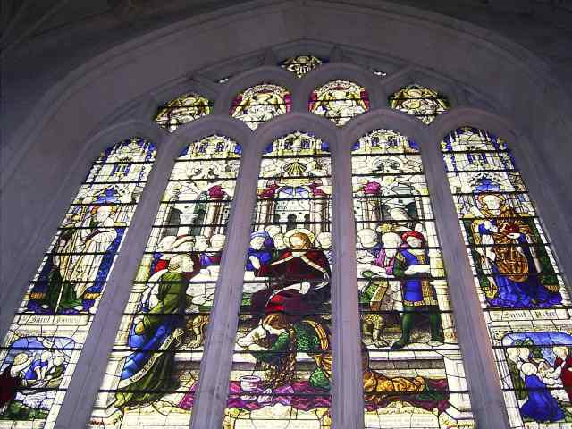 An Abbey Stained Glass Window
