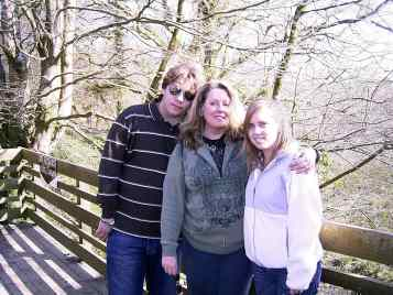 With Ally and Wes in Cornwall