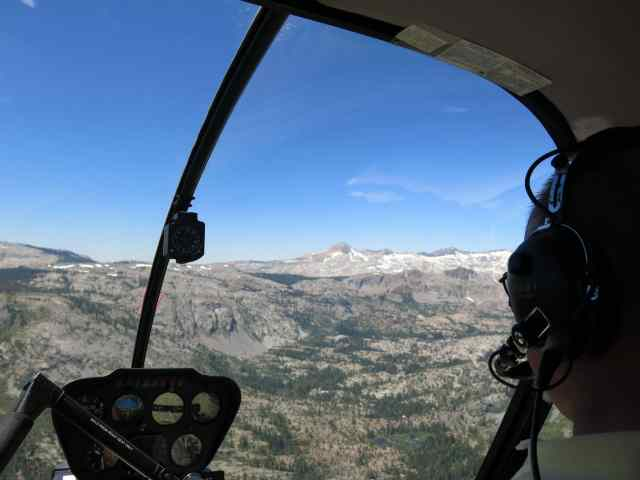 Helicoptering Lake Tahoe