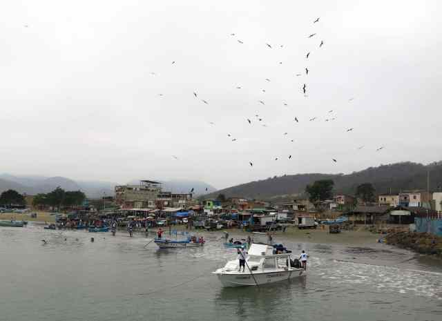 Puerto Lopez is a fishing village.