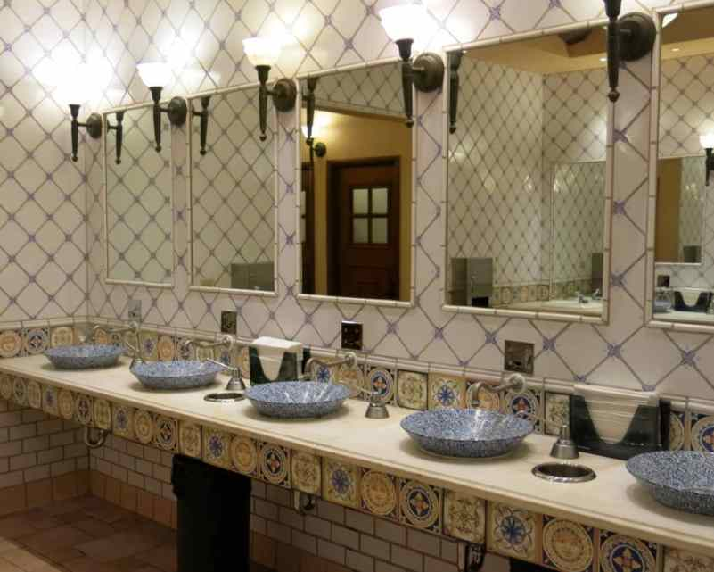 Even the restrooms are worth looking at!