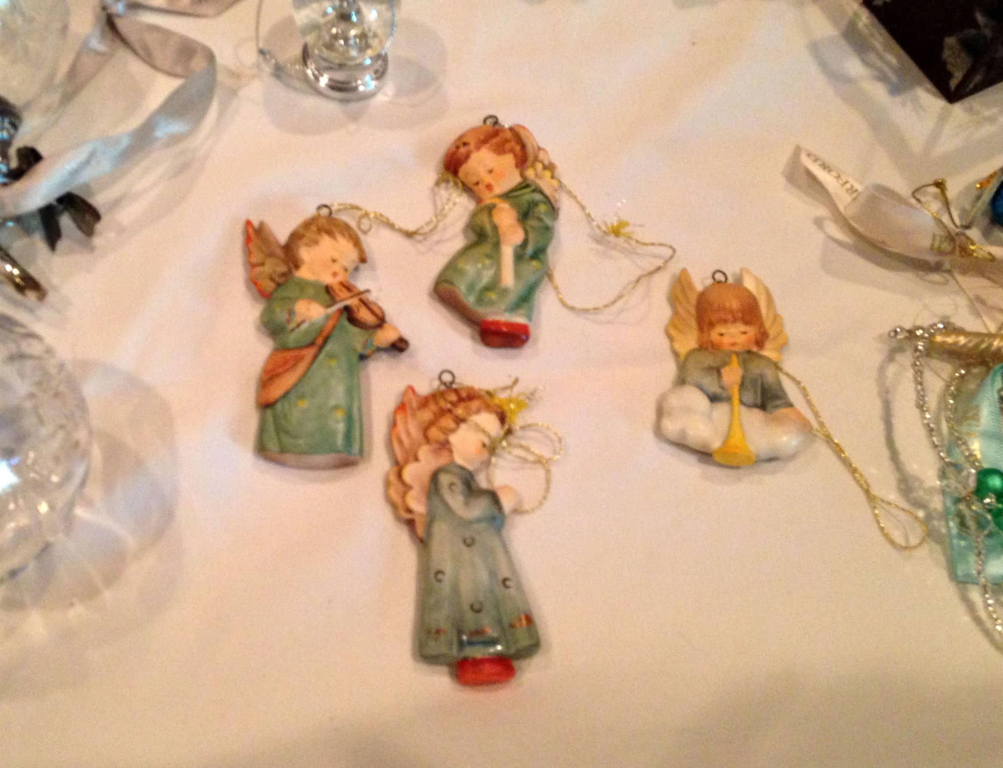 Hummel christmas tree ornaments - These Beautiful Hummel Angels Were Given To Me By My Biological Mother