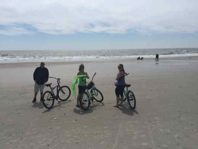 We had fun riding bikes on the beach!