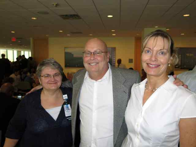 Randy with an ICU Nurse and the nurse who is the Transplant Clinic coordinator, Ann Cuddy.