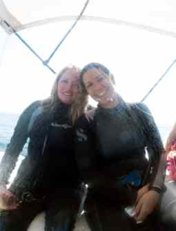 Andrea and I on the boat