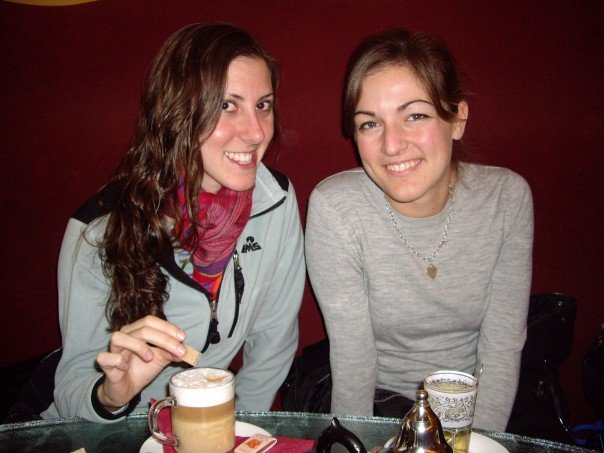 My first latte in Brussels with Dawn. Belgium.