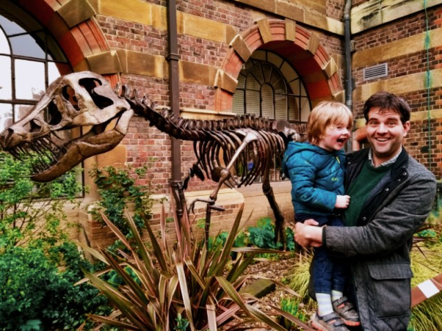 Sedgwick Museum Dinosaur  - one of the free things to do in Cambridge with kids