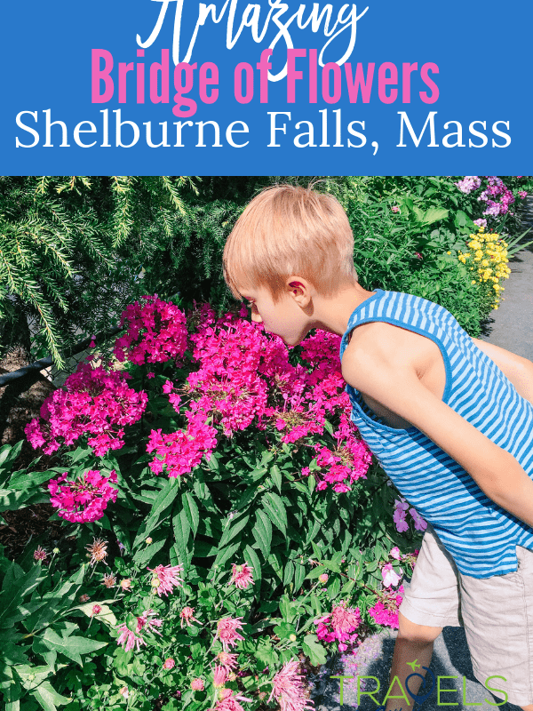 The Bridge of Flowers in Shelburne Falls, Massachusetts is a great summer destination. Flowers as far as the eye can see! #newenglandtravel #shelburnefalls #gardentour