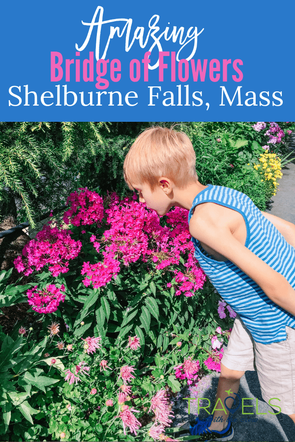 The Bridge of Flowers in Shelburne Falls, Massachusetts is a great summer destination. Flowers as far as the eye can see! #newenglandtravel #shelburnefalls #gardentour