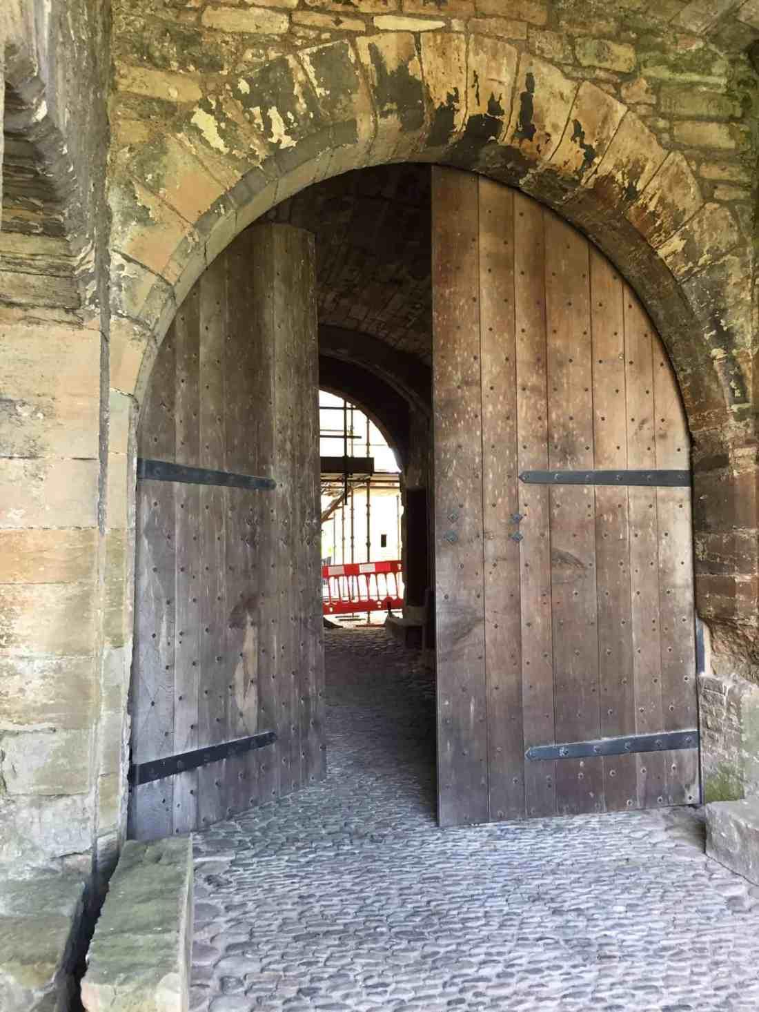 stirling castle door