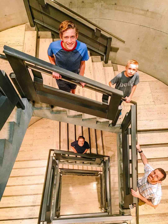 yale british art stairway
