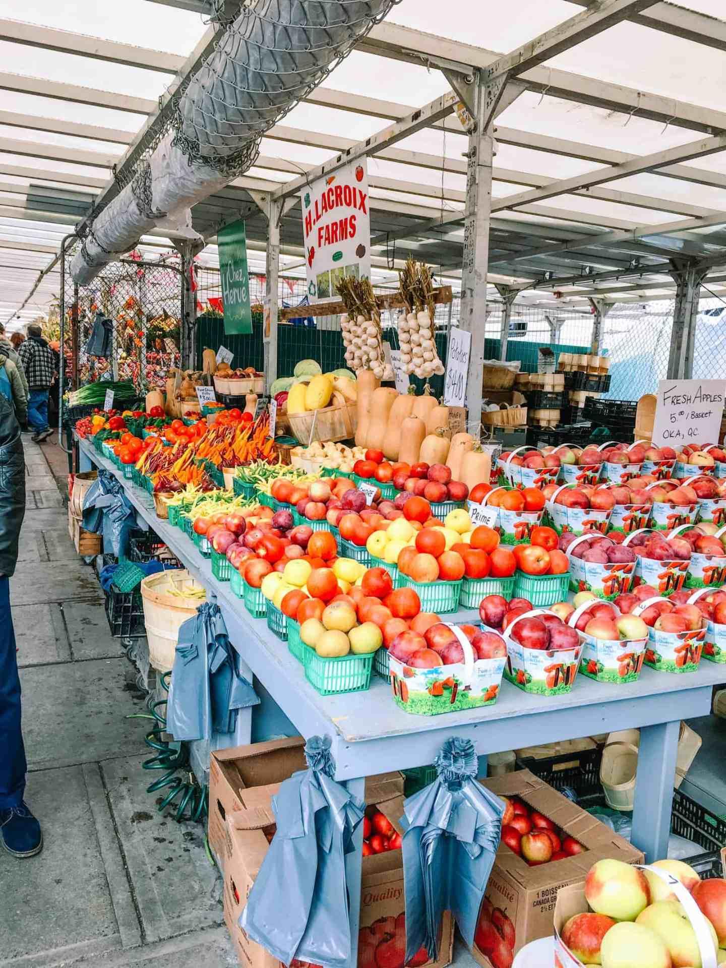 Ottawa travel, Fruit stand at ByWard Market, Ottawa