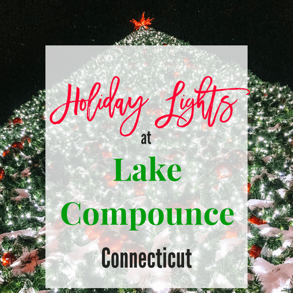 Holiday Lights at Lake Compounce Connecticut. America's oldest amusement park puts on a beautiful display at Chrstmas. Join in on the fun with rides, Santa and light shows. #lakecompounce #connecticutchristmas #ctchristmas #holidaylights