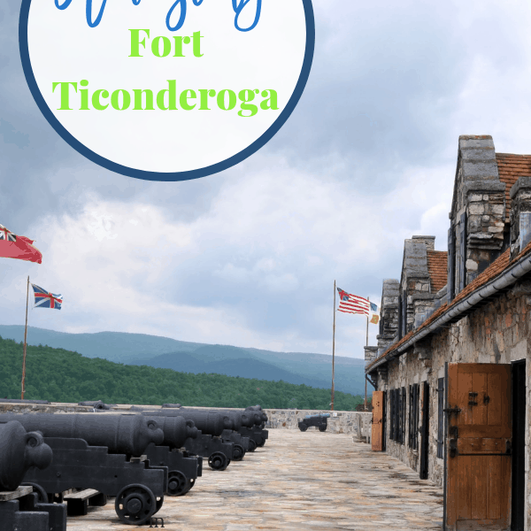 Fort Ticonderoga is a beautiful and educational visit. The entire family will love learning about this influential fort and Lake Champlain. #fortticonderoga #iloveny #adirondacks